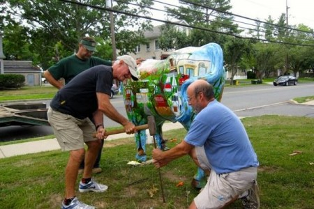 'Stampede' alert: Colorful fiberglass oxen ready to invade Hopewell Valley